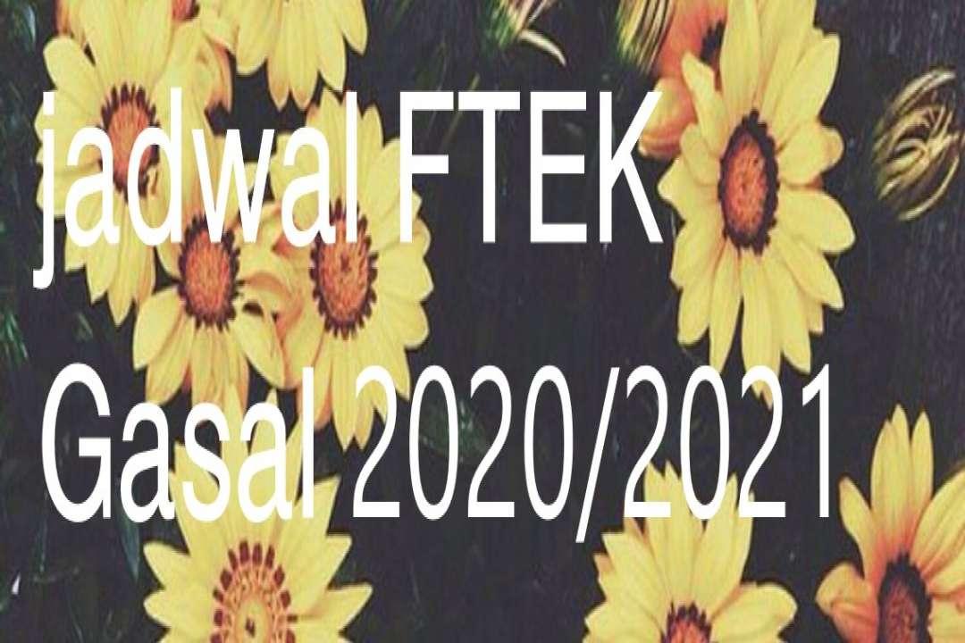 Jadwal Gasal 2020/2021